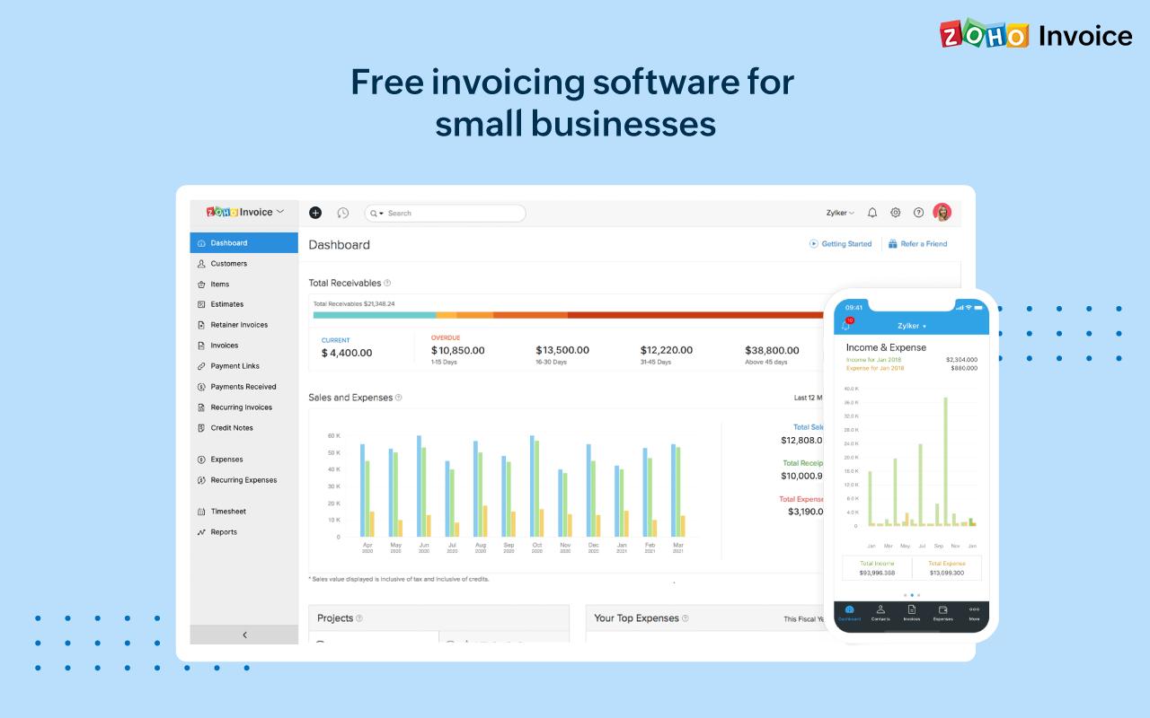 Zoho Invoice Software - 1
