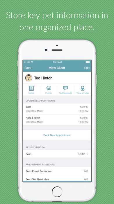 Enter, record and reference pet information through the 123Pet mobile apps