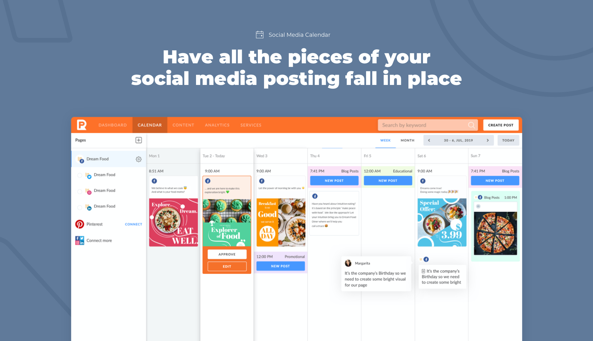 Have all the pieces of your social media posting fall in place