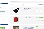 AMO screenshot: Sell goods in the online store, categorizing products and tracking orders