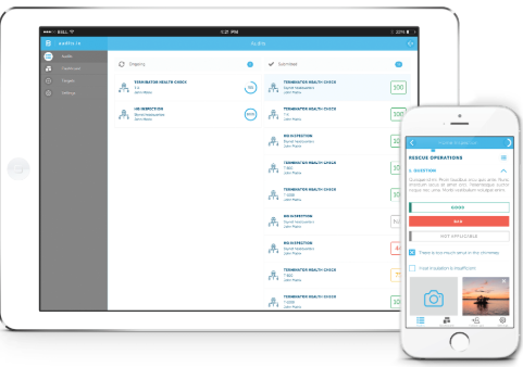 audits.io mobile and tablet use