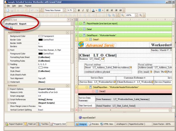 AyaNova Software - Reporting %>