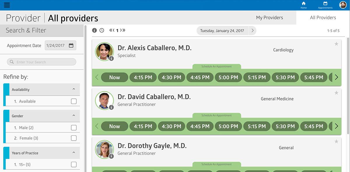 Virtual Care Management practitioner profiles