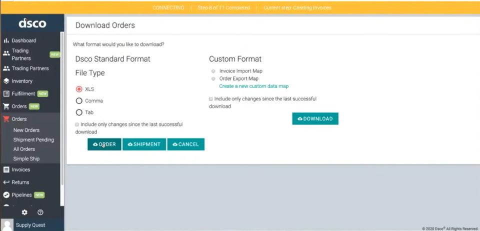 dsco Software - Dsco download orders
