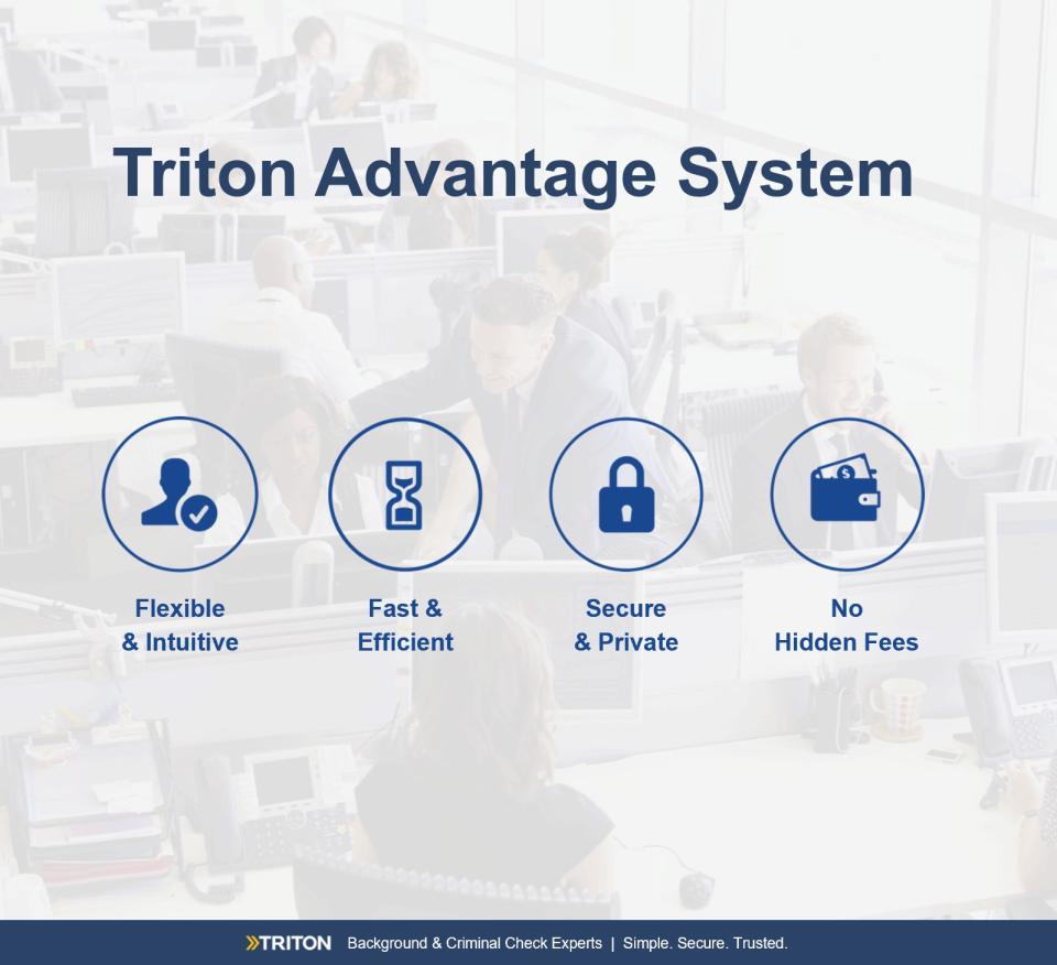 Triton Software - Best in class platform
