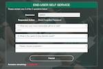 PortalGuard screenshot: Self-Service Password Reset (SSPR) - Challenge Questions & Answers Example
