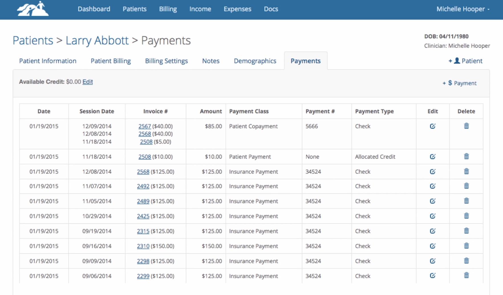 TherapyMate payments