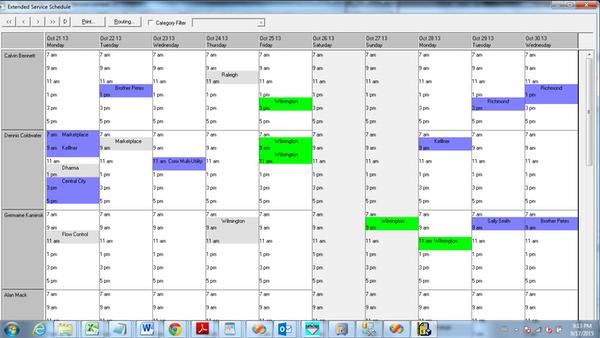 Foundation 3000 service schedule