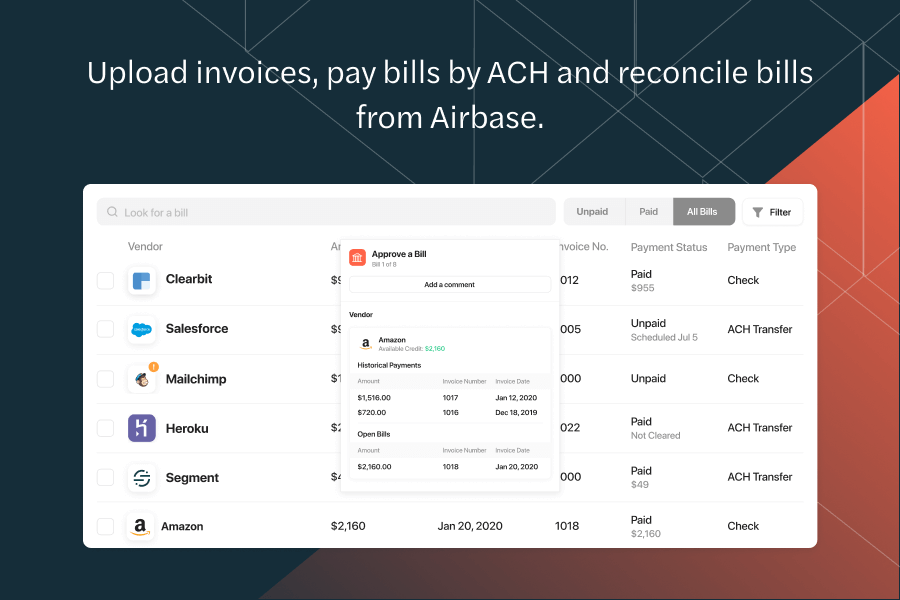 Airbase Software - Bill payments