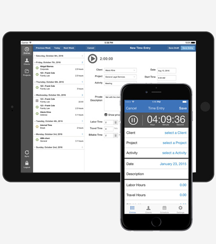 Time Tracking Anytime, Anywhere - Bill4Time lets you track your time even when you don't have Internet. All accounts include a Windows or MAC desktop widget. Free mobile apps for iOS, Android let you track your time on your smartphone or tablet.