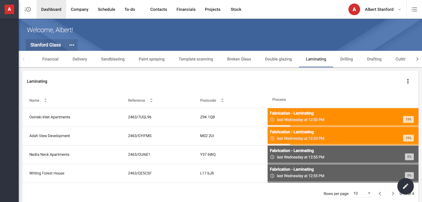 Control company activities from one place and via an intuitive dashboard-based UI