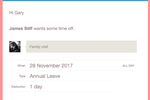 Timetastic screenshot: Approve or decline time off requests