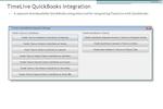 TimeLive screenshot: Quickbook Integration