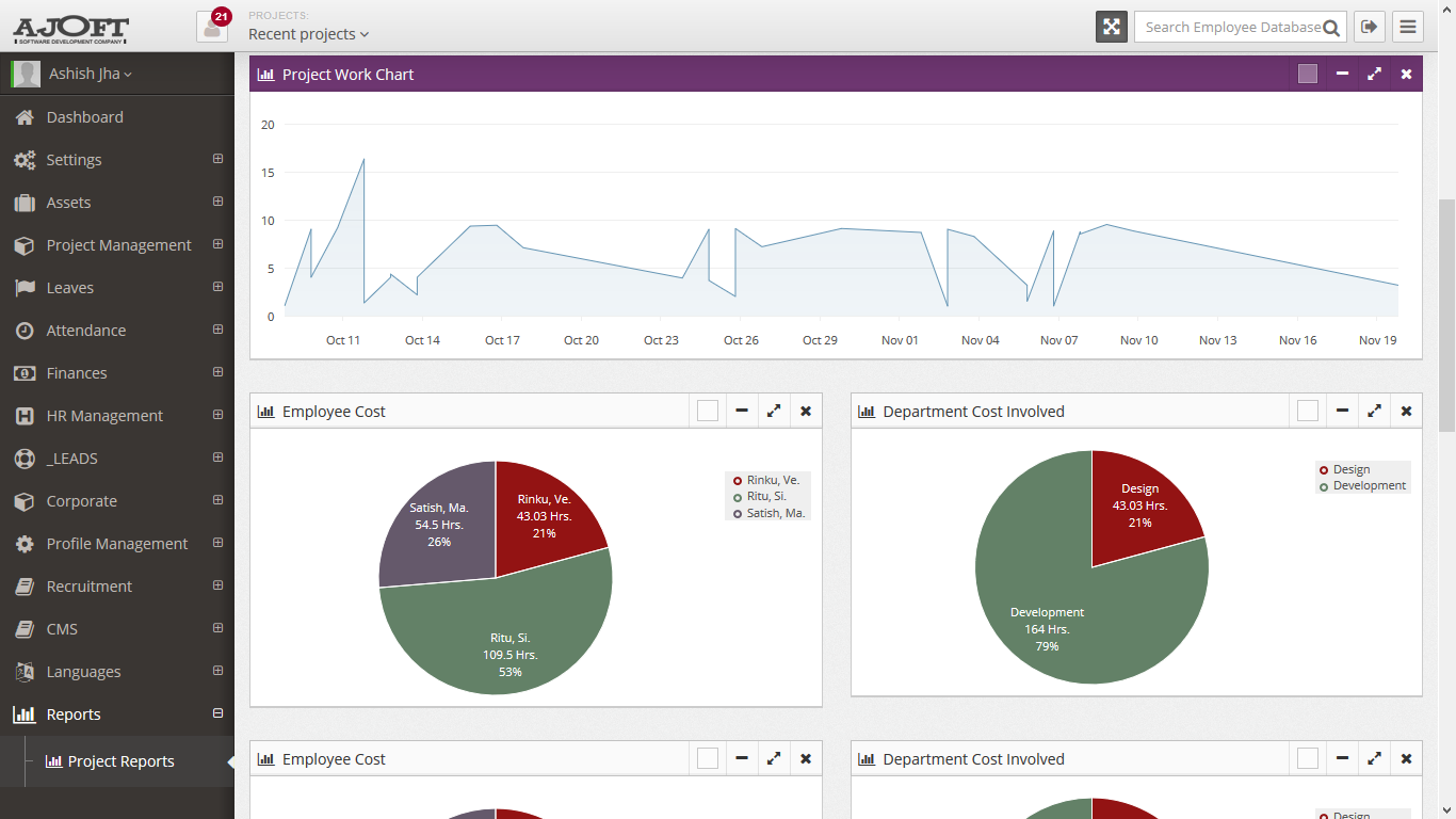 Ajoft HRMS Software - Reporting
