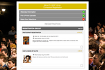 Captura de pantalla de Eventsquid: Eventsquid's flexible forms allow for single, bulk, guest, minor and third-party registrations