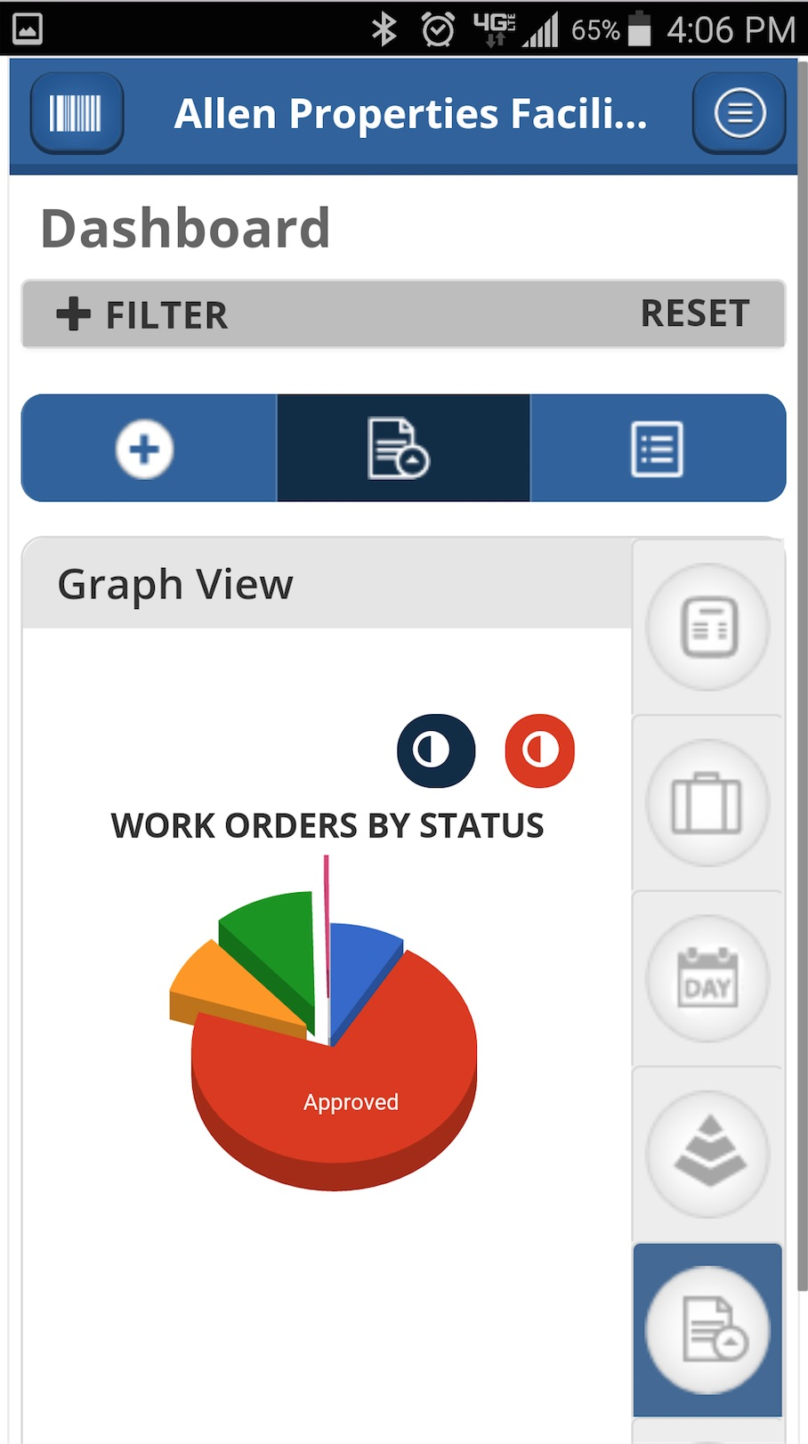 NetFacilities smartphone work order