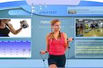 ConnectedSign screenshot: Offers customizable screen layout templates