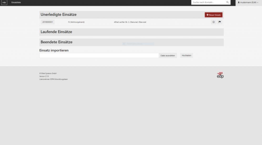 EDP screenshot: EDP select bet