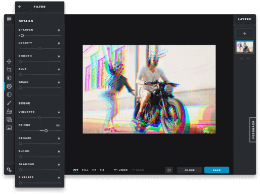 Pixlr X image filters