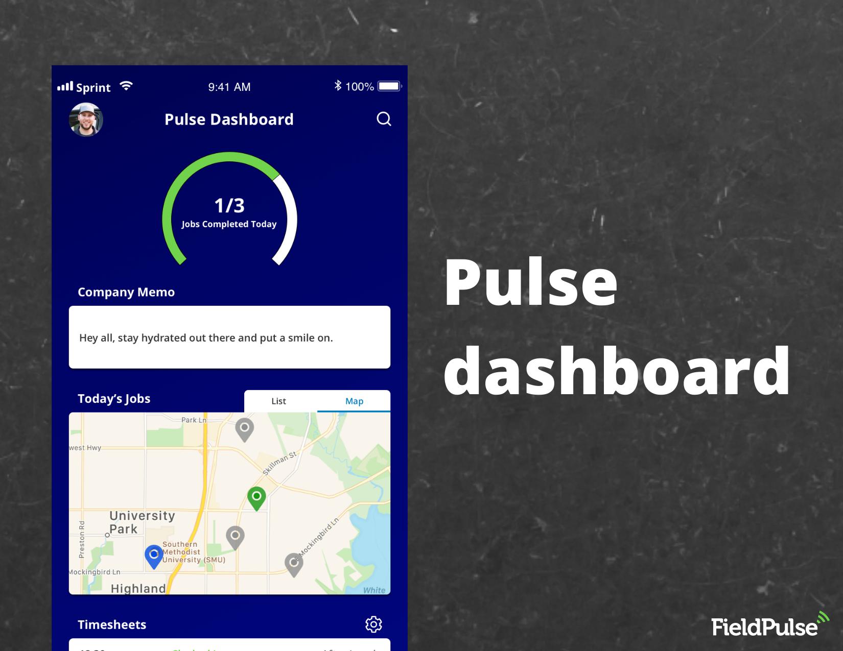 FieldPulse Software - Pulse dashboard