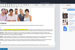 Captura de tela do DivvyHQ: Unlike spreadsheets and general project management systems, Divvy's content management capabilities enables producers to create, edit, approve and publish HTML-based content directly within the application.