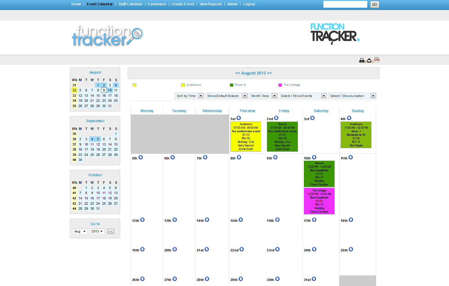 Click and drag events to different days on the calendar