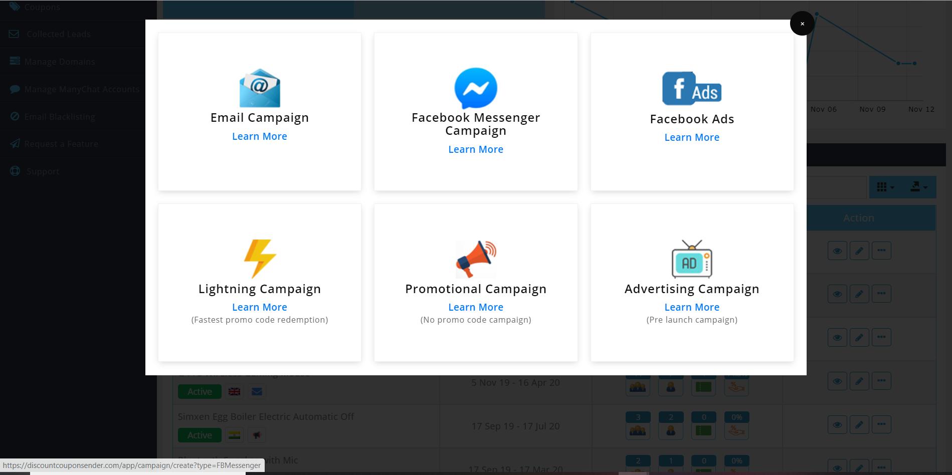 Discount Coupon Sender campaign screenshot