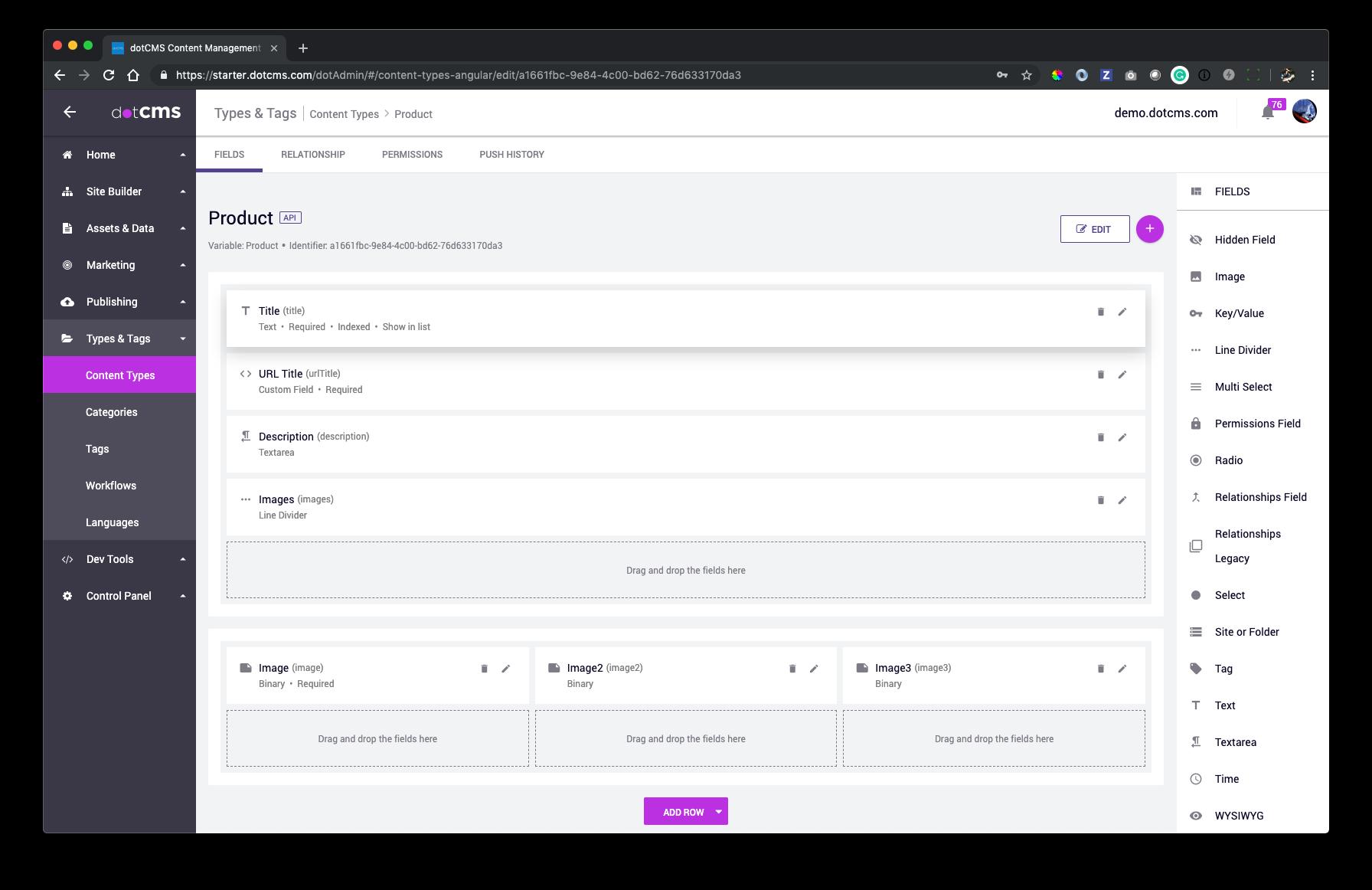 Content Type Builder