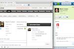 Ringio screenshot: Ringio shown alongside Zoho CRM