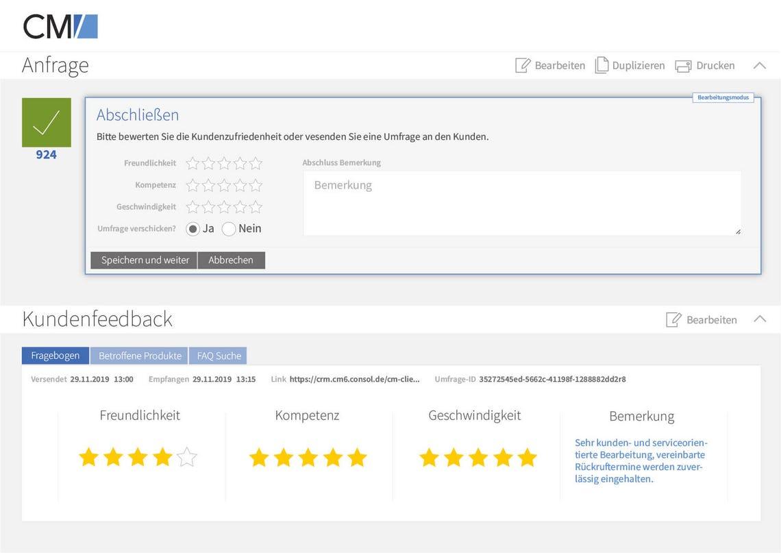 ConSol CM/Customer Service SLA control