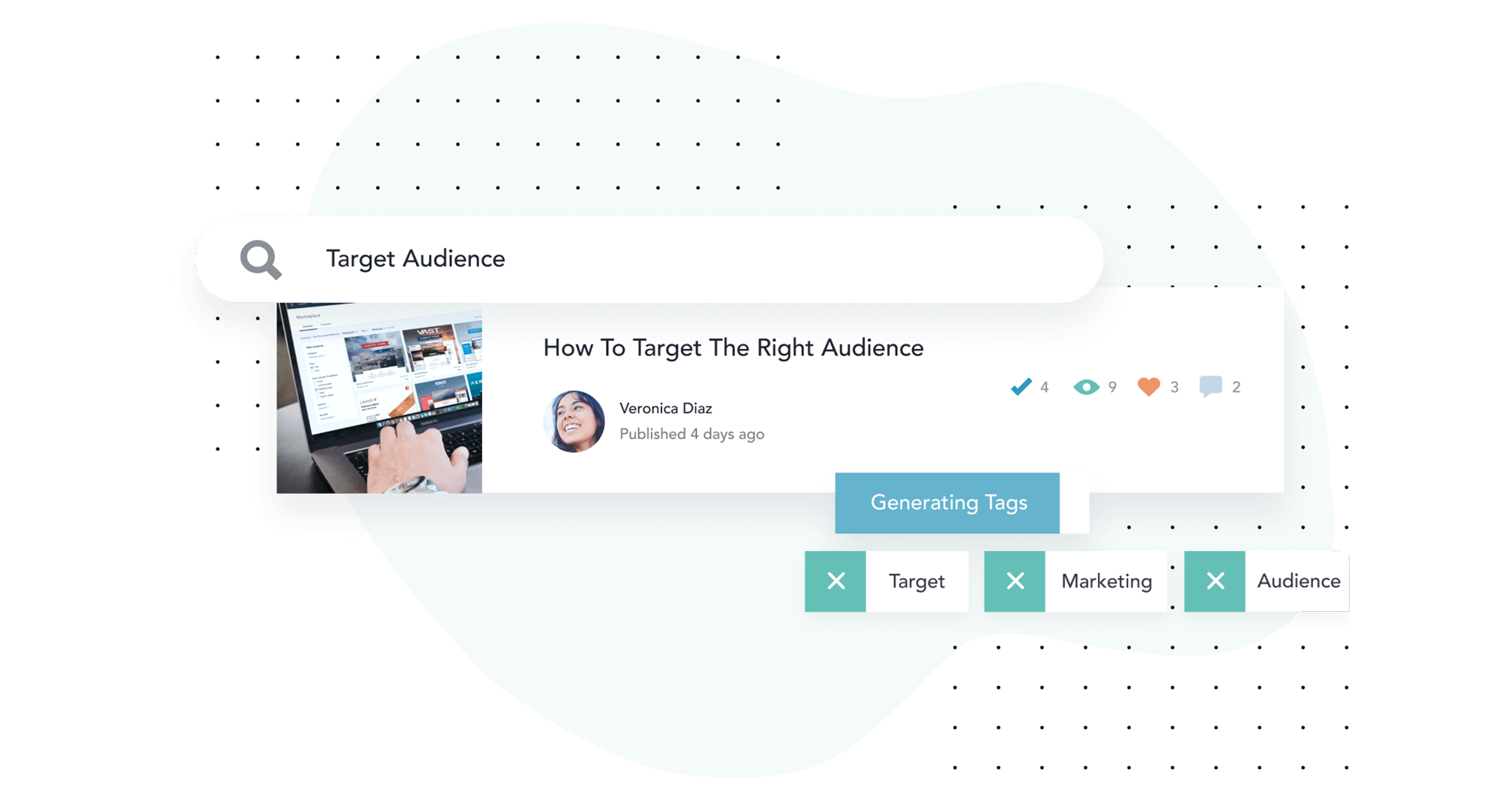 Optimize your content for search without wasting time on manual tagging. Bloomfire automatically generates tags based on the content in your post so that it's easy for others to find.
