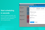 Capture d'écran pour Float : Start assigning tasks in seconds by clicking anywhere on your schedule. Make changes quickly with powerful editing tools and scenario plan by assigning tentative tasks on your schedule.