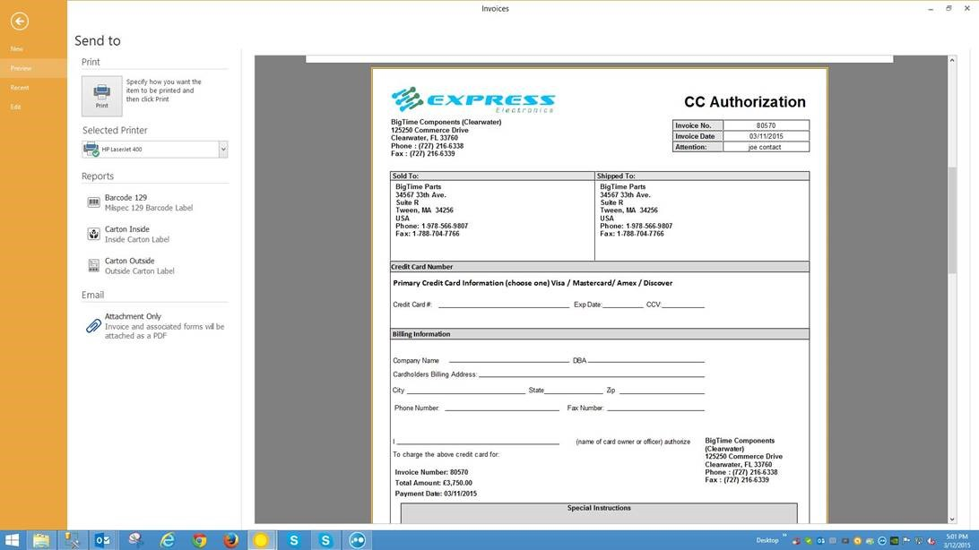 SDS4 Distribution Software Software - Print preview