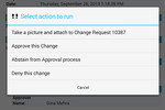 Cherwell Service Management screenshot: Cherwell also allows users to approve or deny change requests through the apps