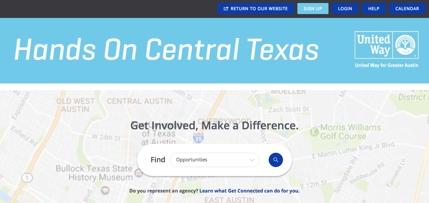 Get Connected Software - Get Connected helps to connect volunteers with local events