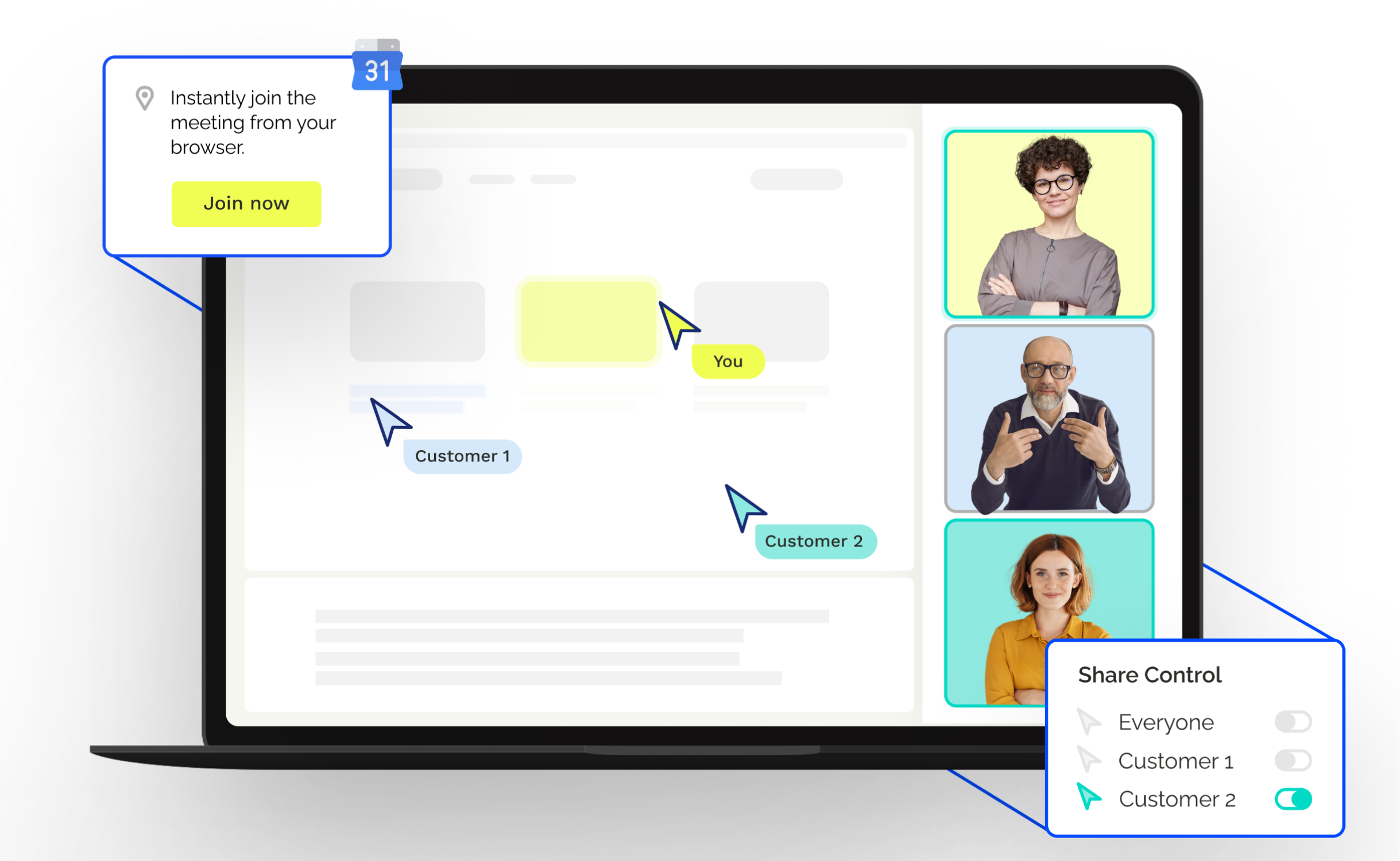 Breakthrough screen-sharing technology