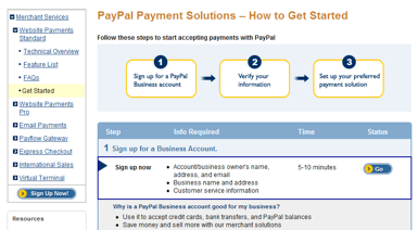 PayPal Software - Set up account