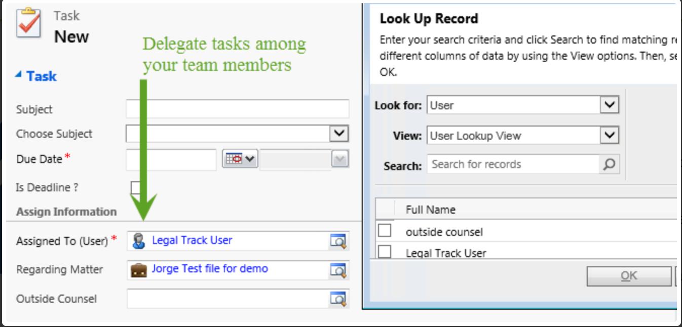 Delegate tasks among team members