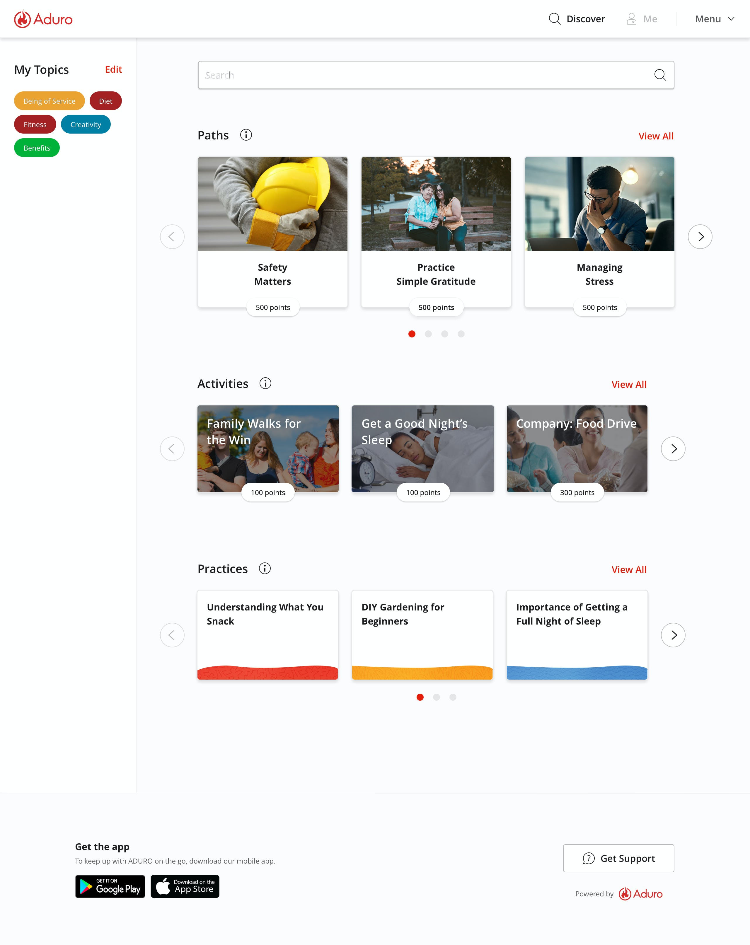 ADURO Software - Aduro topics