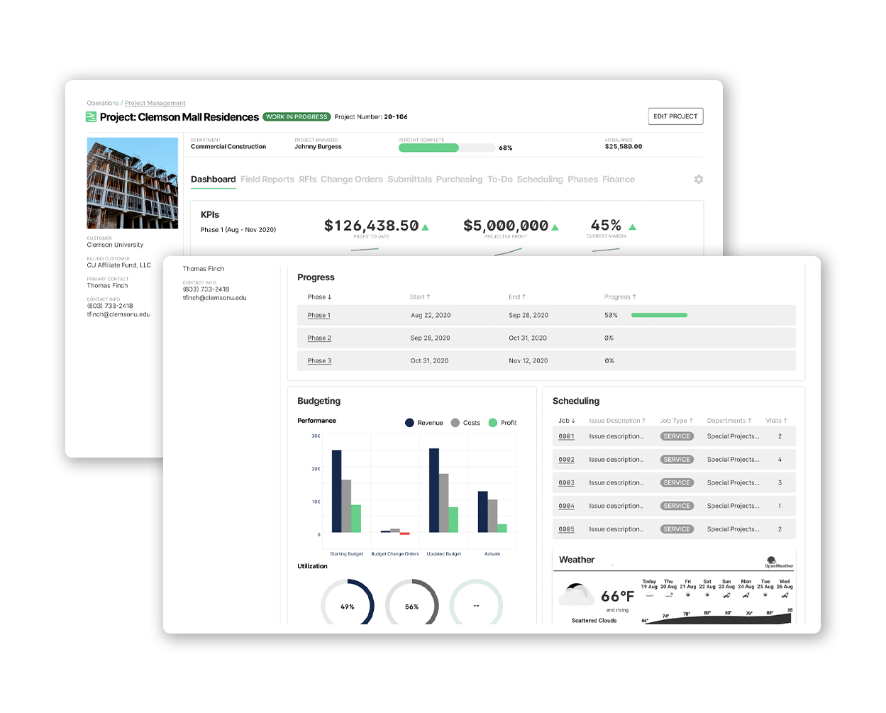 BuildOps Project Management Dashboard