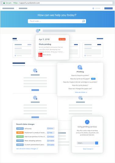 DeskPRO screenshot: Help Center & Knowledgebase