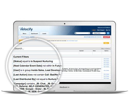 Velocify-SalesManagement-CurrentFilters