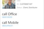 InfoServ screenshot: Access InfoServ via a Windows mobile app