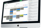 FlexBooker screenshot: FlexBooker showing easy scheduling features on iMac desktop
