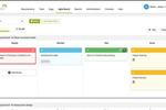 ReQtest screenshot: An agile board helps users gain a holistic view of their project's progress, and find project bottlenecks