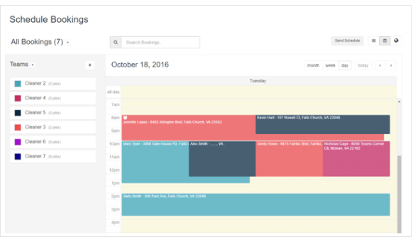 Utilize the drag-n-drop job scheduler to manage appointments