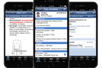 NephroChoice screenshot: Users can access patient charts from their iPhone, patient charts, and e-prescriptions