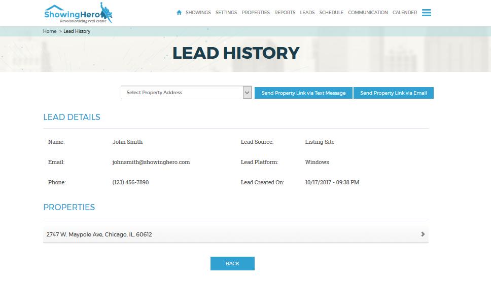 Lead history