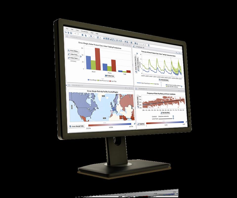SAS Visual Analytics shown on desktop