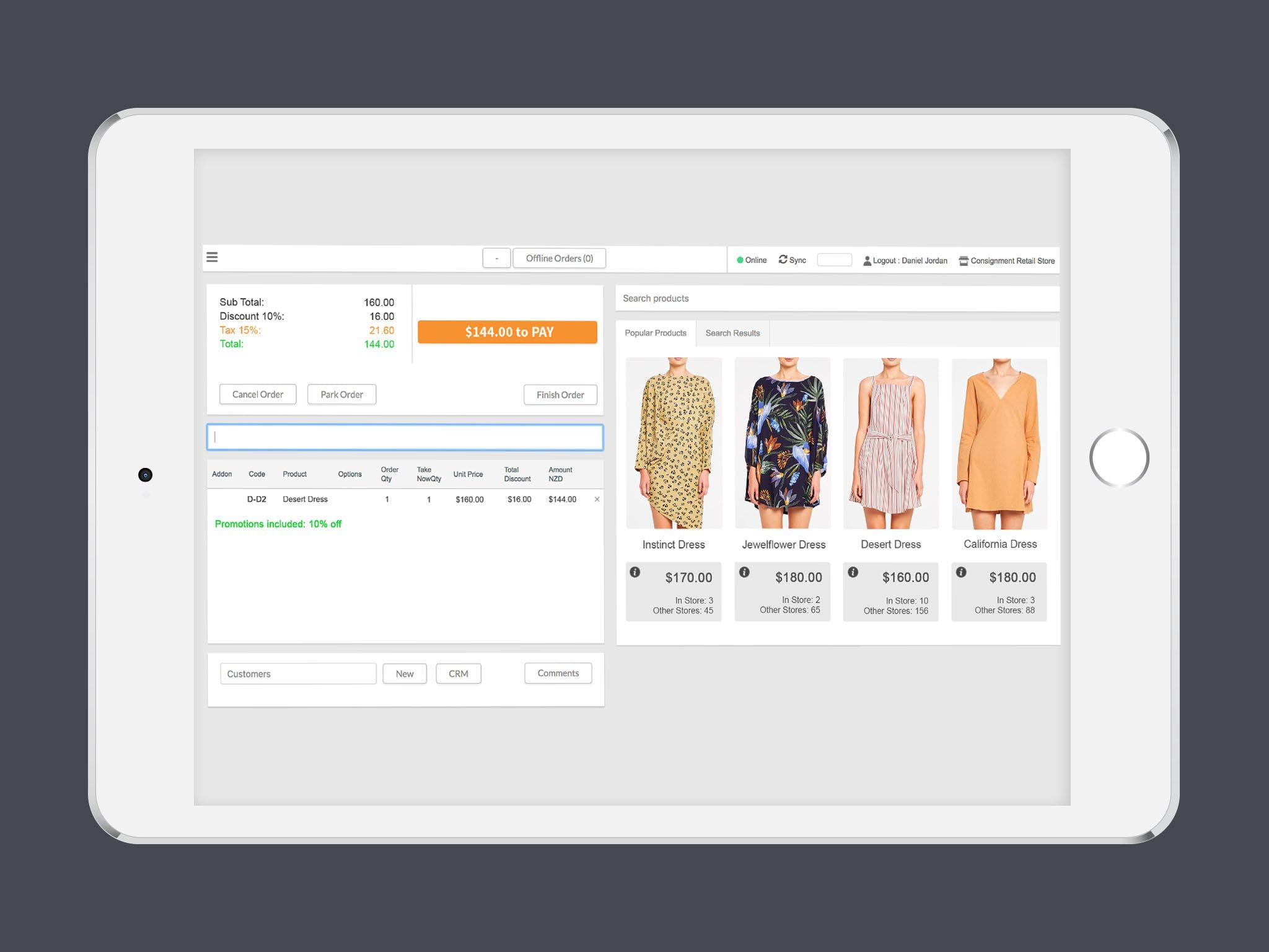 Cin7 Software - Cin7 mobile device interface